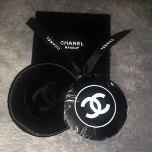Other - 🍒CHANEL Metal Pocket Mirror Velvet Pouch Gift Box